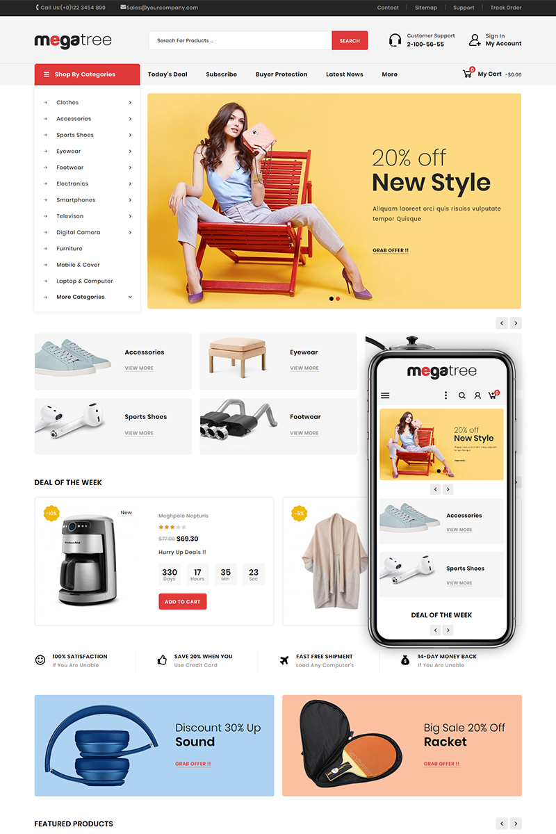 Megatree - Multi Purpose Store PrestaShop Theme