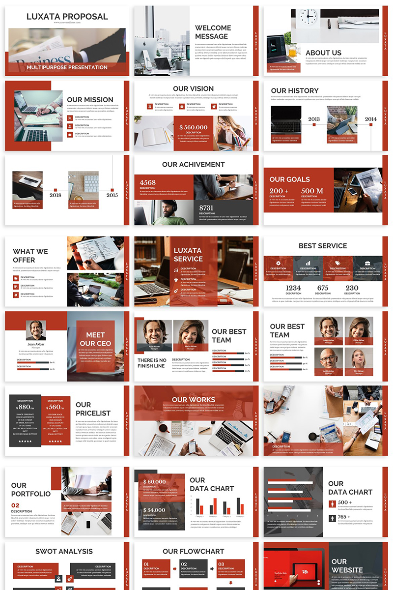 Luxata - Biz Presentation PowerPoint Template