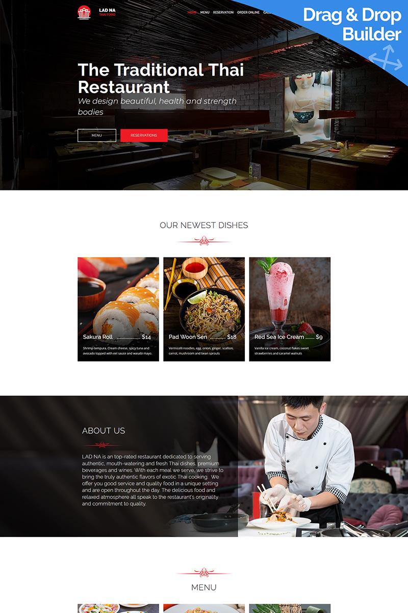LAD NA - Thai Restaurant Moto CMS 3 Template