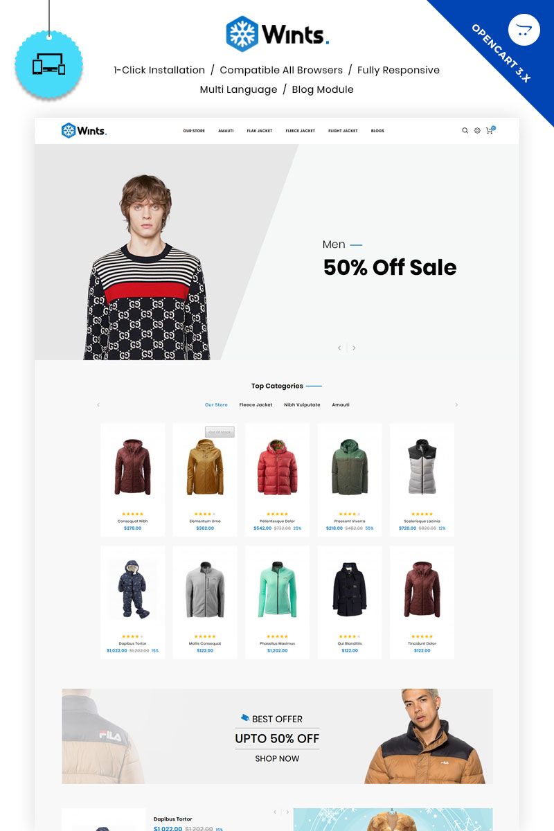 Wints - The Fashion Store OpenCart Template
