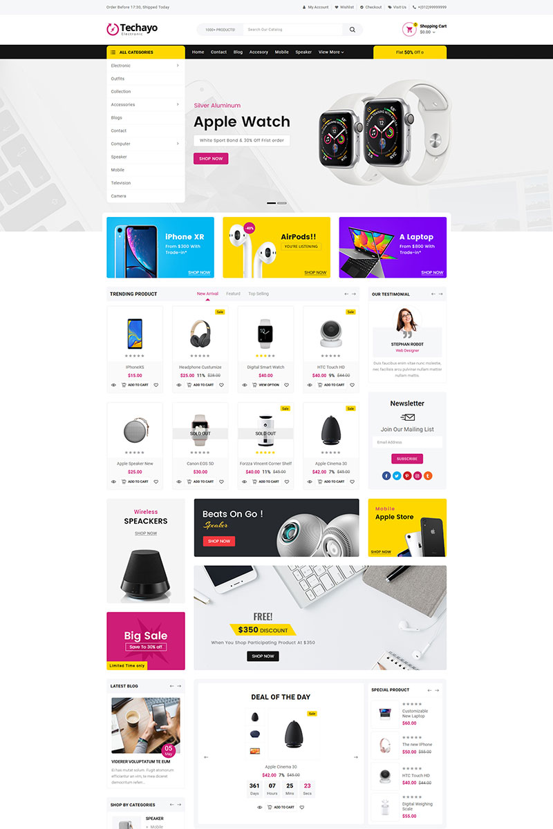 Techayo Electronics Store Shopify Theme