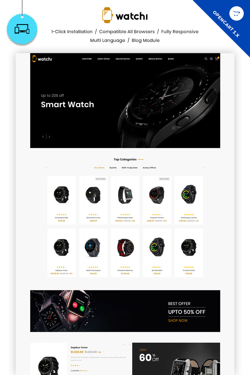 Watchi - The Watch Store OpenCart Template