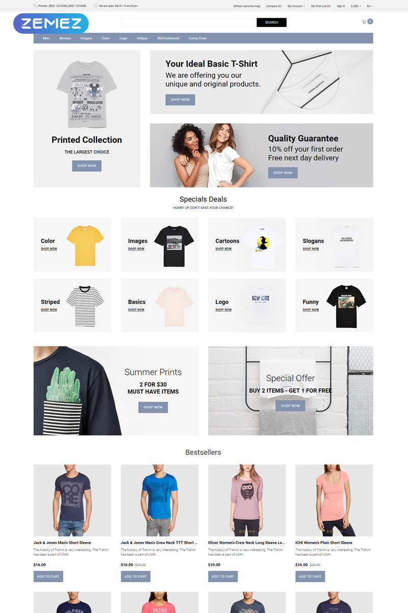Cruff - T-shirt Multipage Modern OpenCart Template