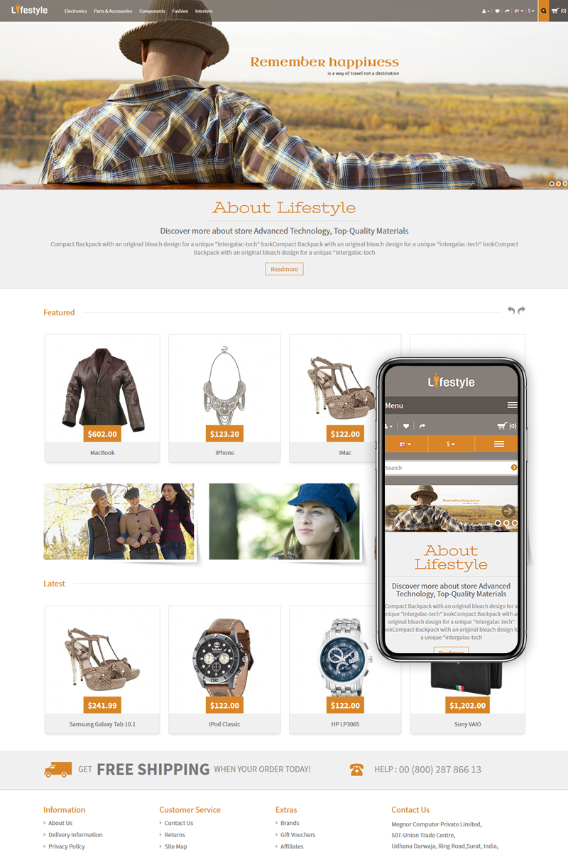 Lifestyle - Fashion Accessories Store OpenCart Template