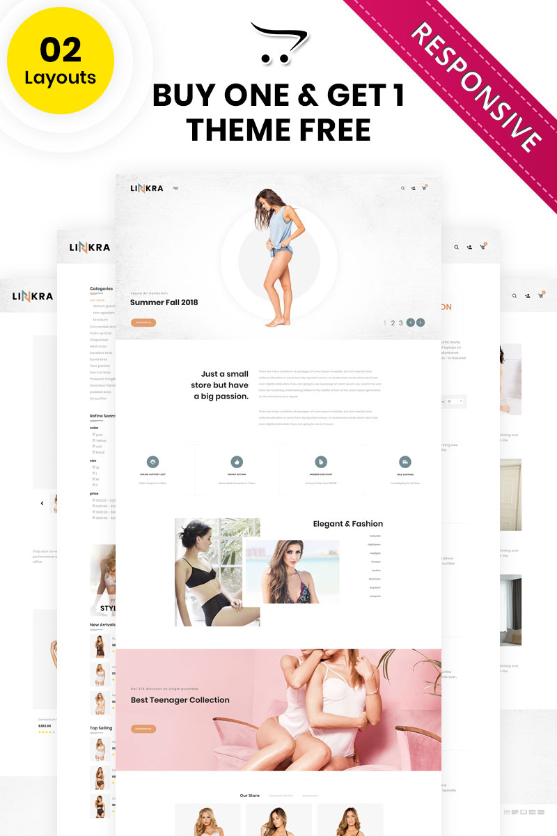 Linkara - The Clothing Store OpenCart Template