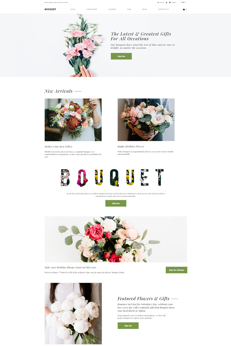 Bouquet - Flower Shop E-commerce Modern Shopify Theme