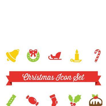 Template Crăciun Seturi de iconițe #82165