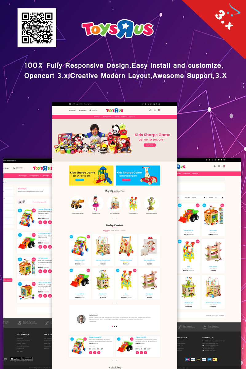 ToysRus OpenCart Template