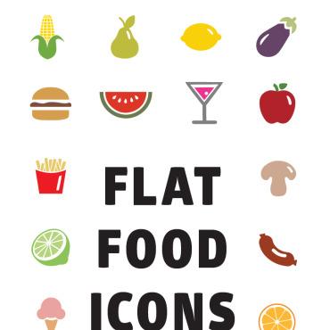 Template Mâncare și băutură Seturi de iconițe #82195