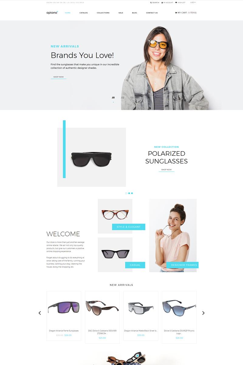 Optono - Eye Glasses Multipage Clean Shopify Theme
