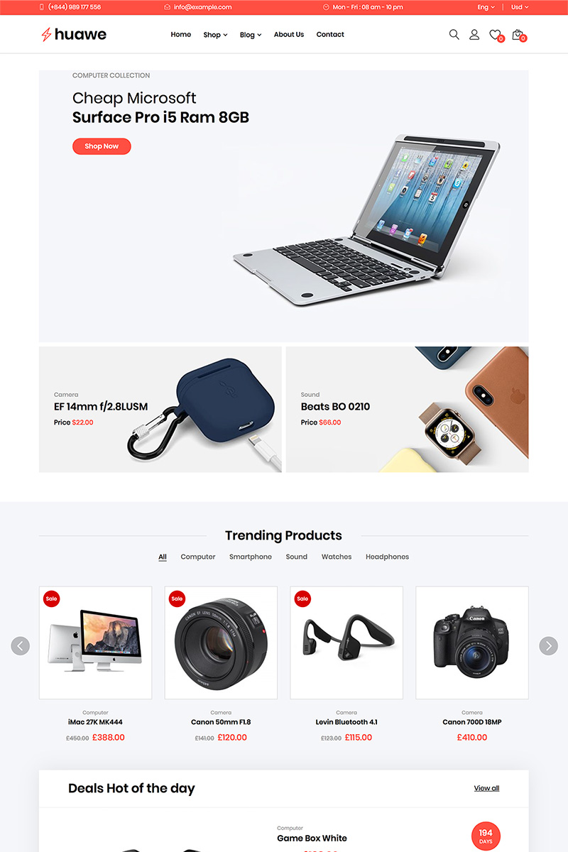 Huawe - Electronics Shop WooCommerce Theme WooCommerce Theme