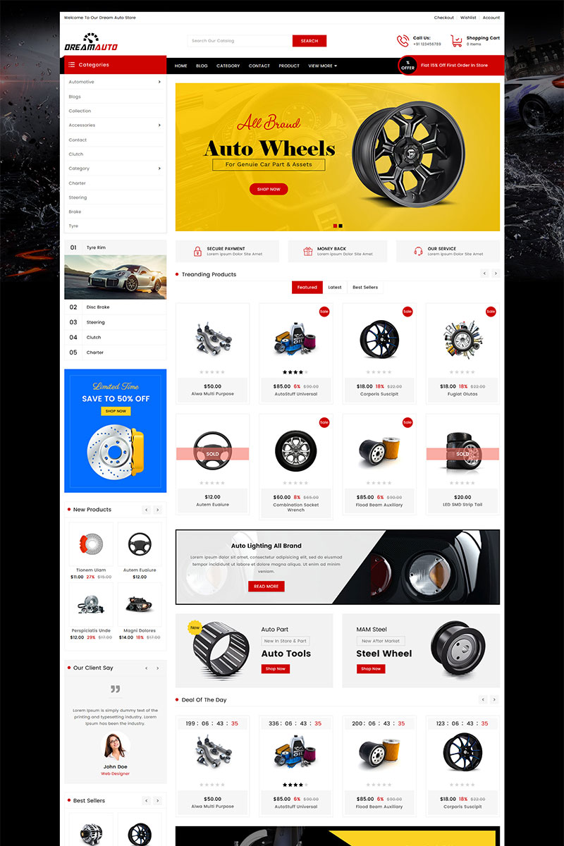 Dream Auto Parts Shopify Theme