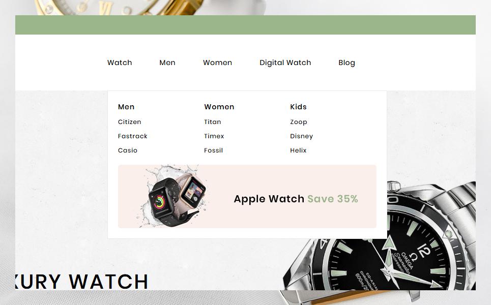 Aelcon Fashion & watch Stores PrestaShop Theme