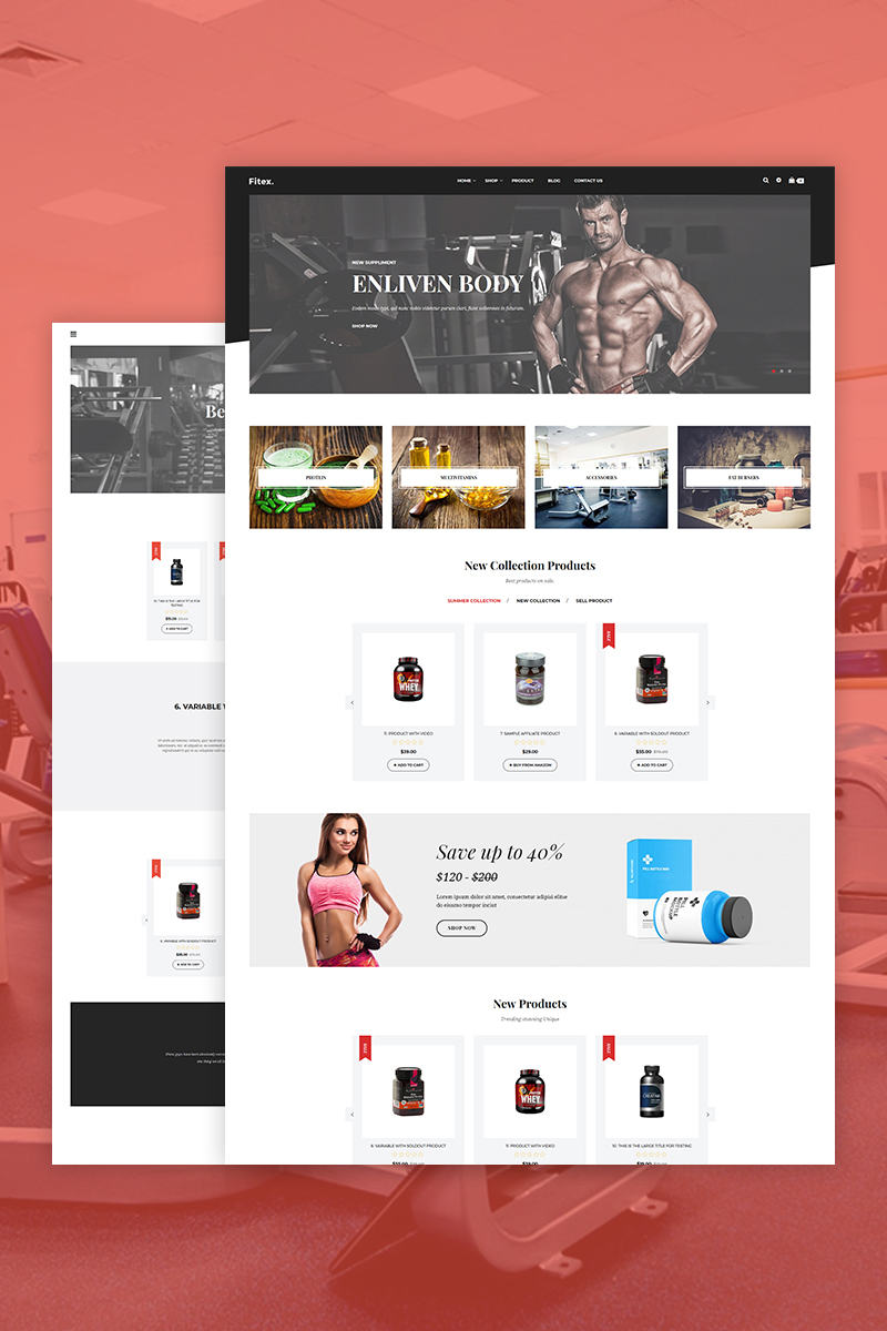 Fitex - Sport Nutrition Shopify Theme