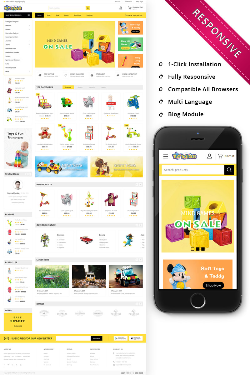 Toyinsider - The Kids PlayStore WooCommerce Theme