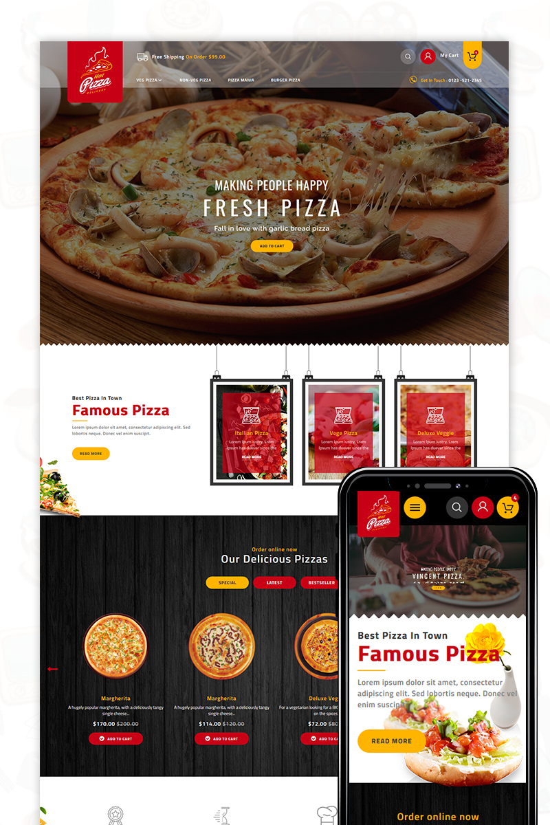 Pizza -The best Food Store PrestaShop Theme