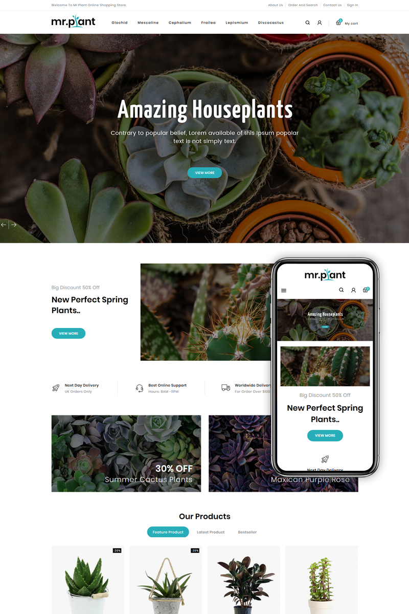 MrPlant - Multi Purpose Store PrestaShop Theme