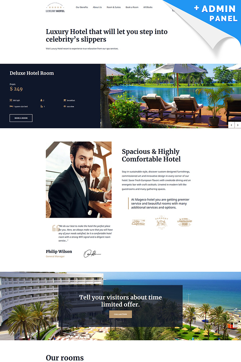 Luxury Hotel Landing Page Template
