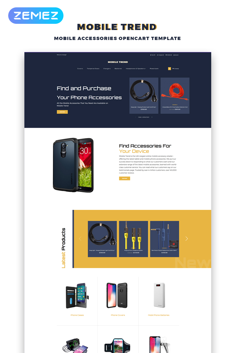 Mobile Trend - Mobile Accessories Store Modern OpenCart Template