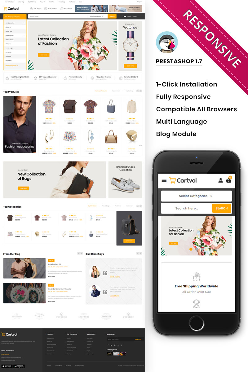 Cartvol - The Mega Fashion Responsive PrestaShop Theme