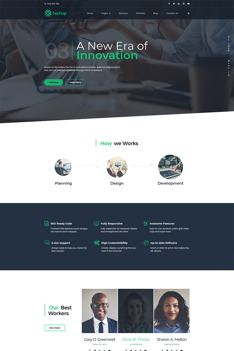 Techup - IoT and AI Tech Startup WordPress Theme
