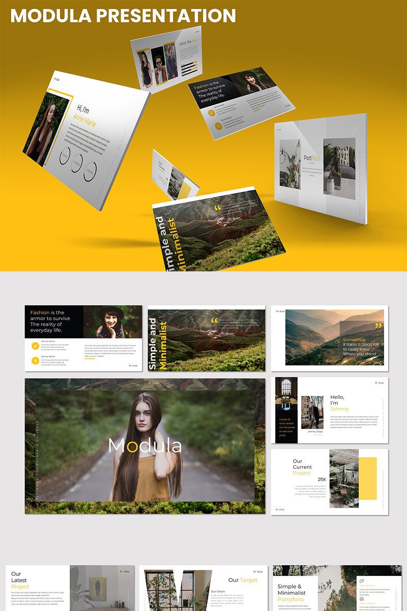 Modula PowerPoint Template