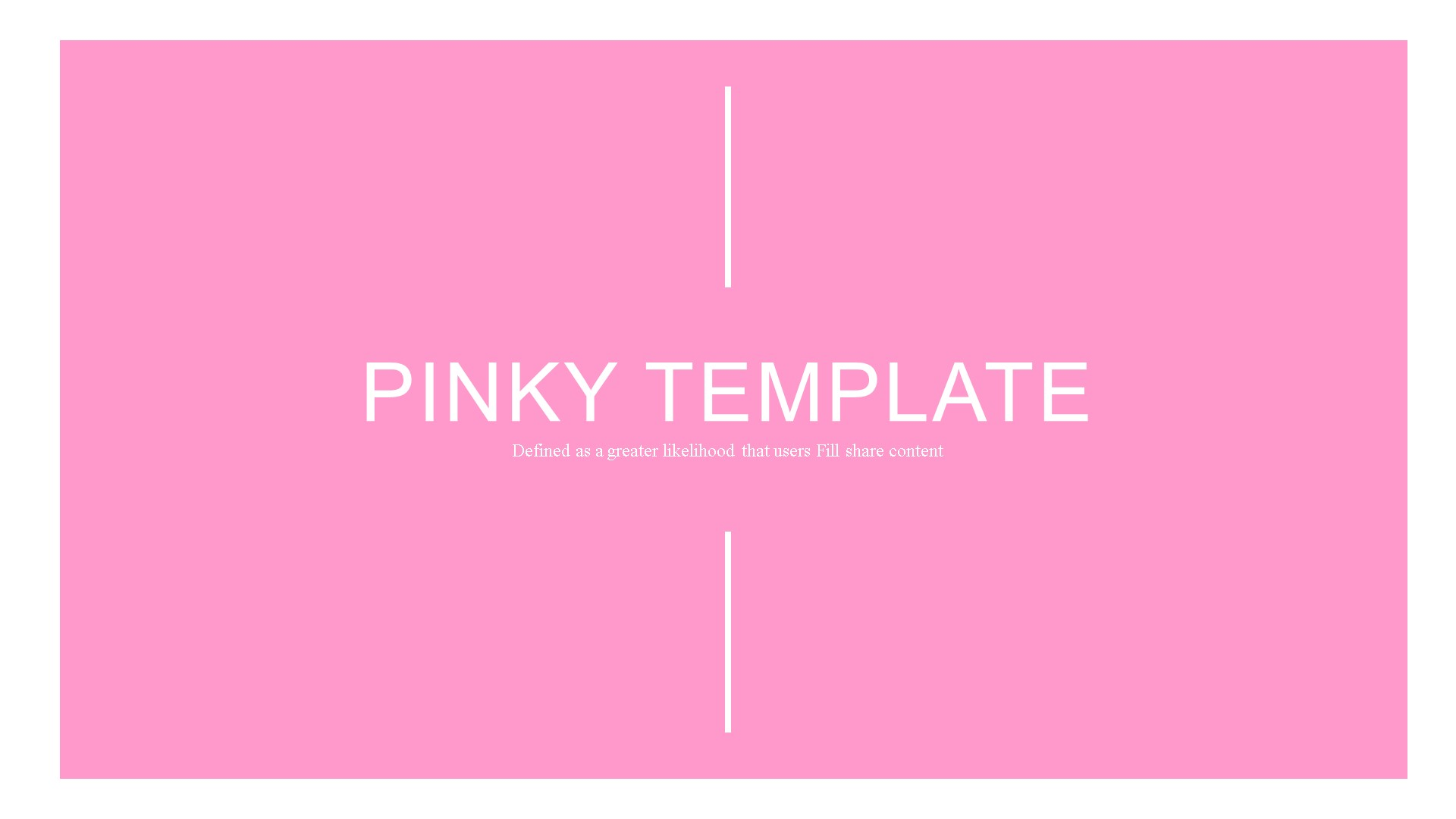 Pinky PowerPoint Template