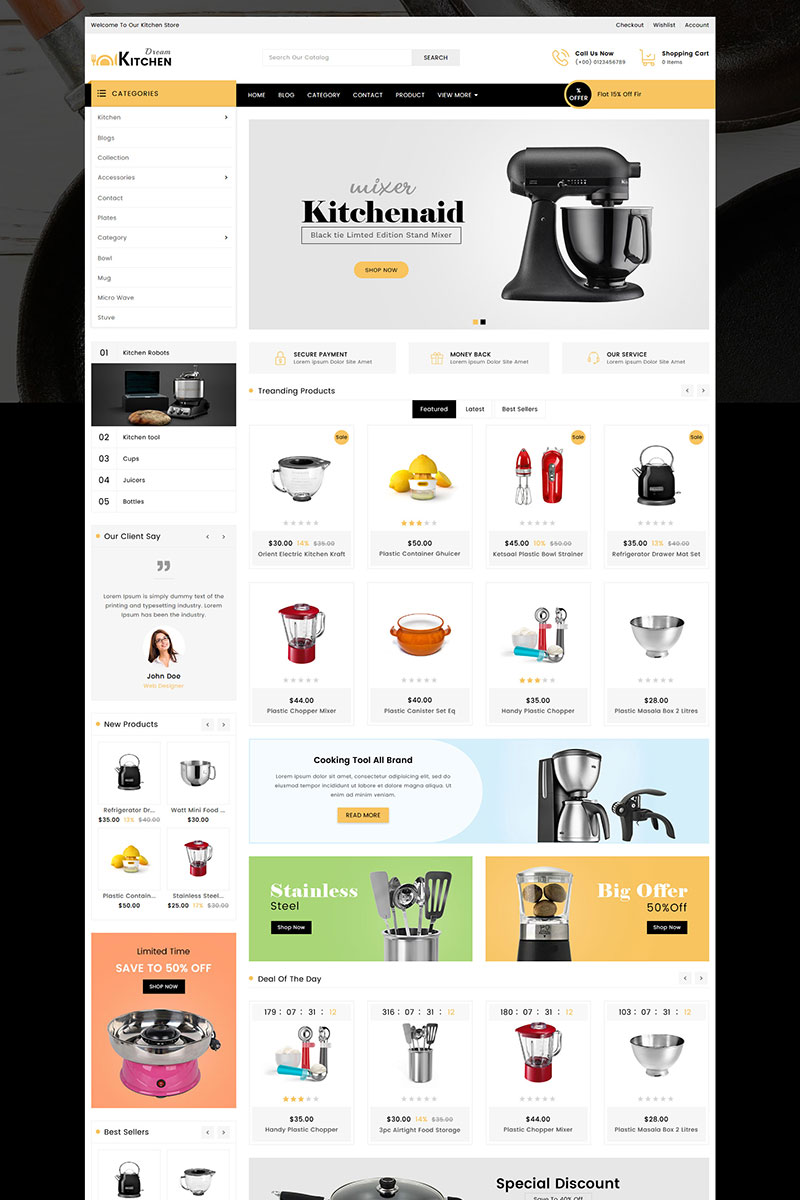 Dream Kitchen Store Shopify Theme