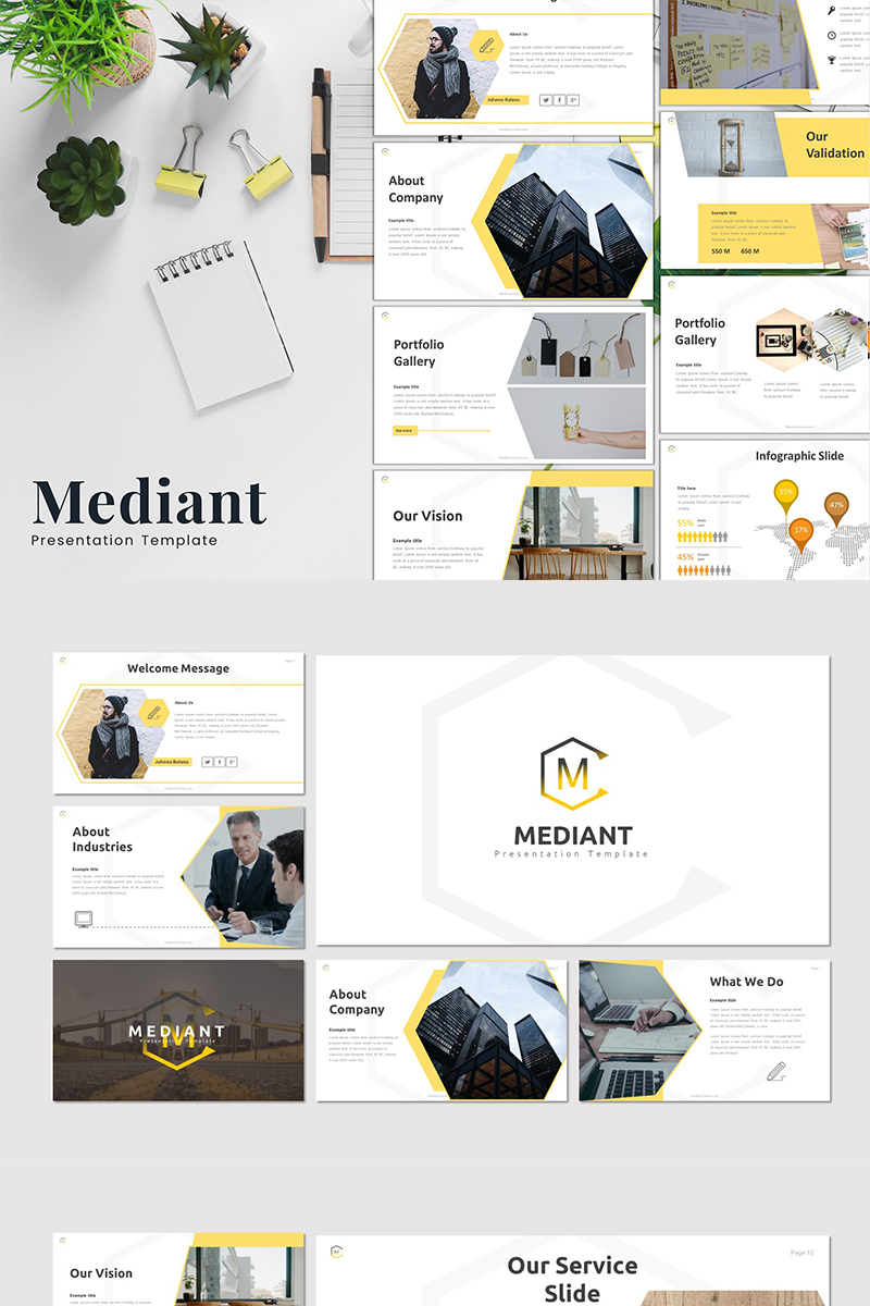 Mediant PowerPoint Template