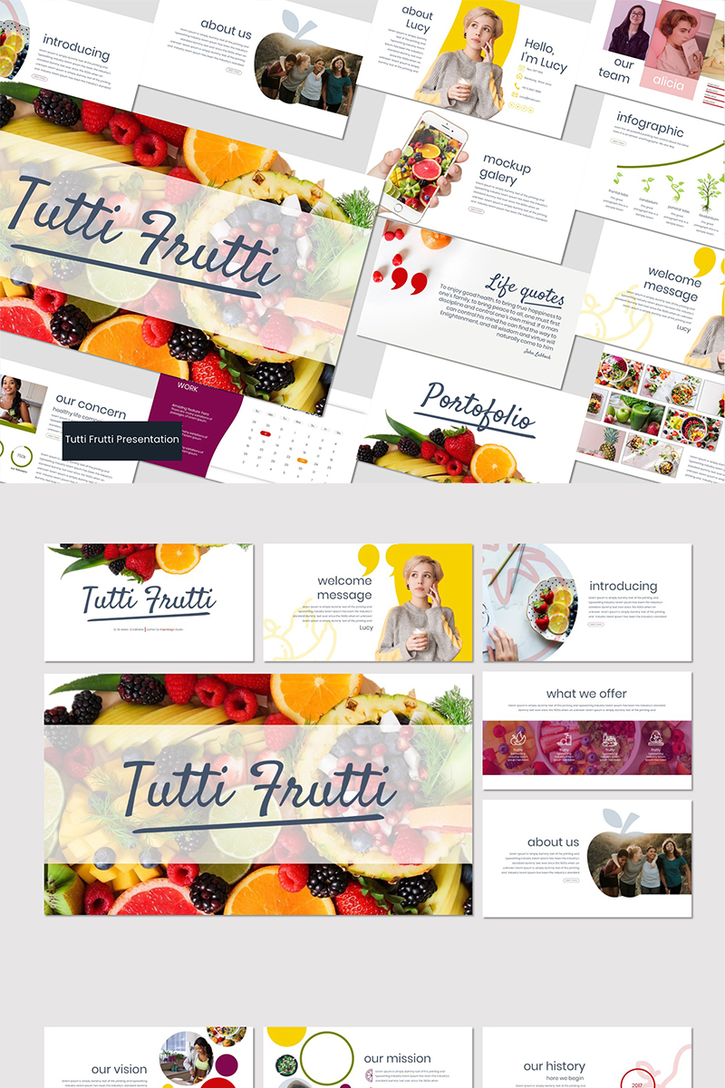 Tutti Frutti PowerPoint Template