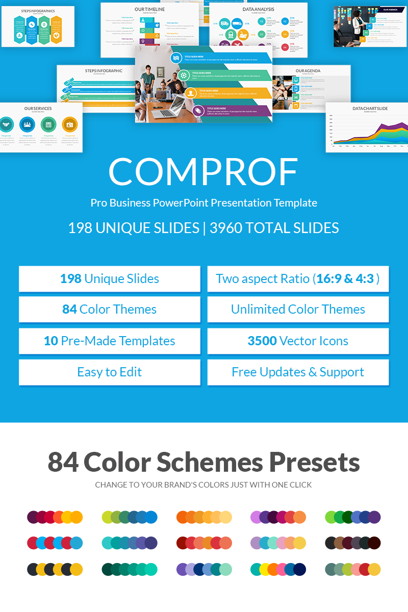 Comprof Multipurpose Business PowerPoint Presentation Template PowerPoint Template