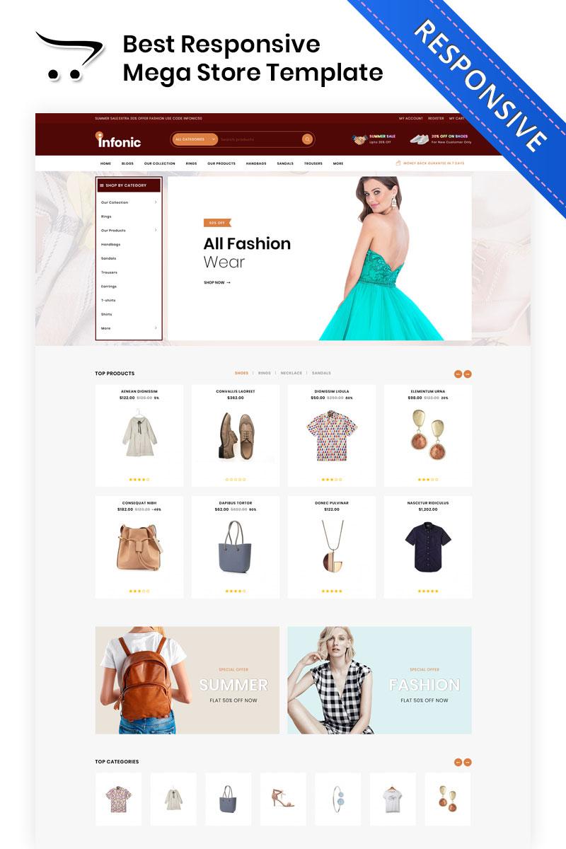 Infonic - The Fashion Shop OpenCart Template