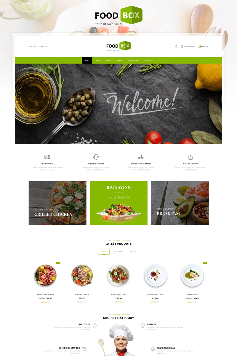 Food Box - Restaurant Store WooCommerce Theme