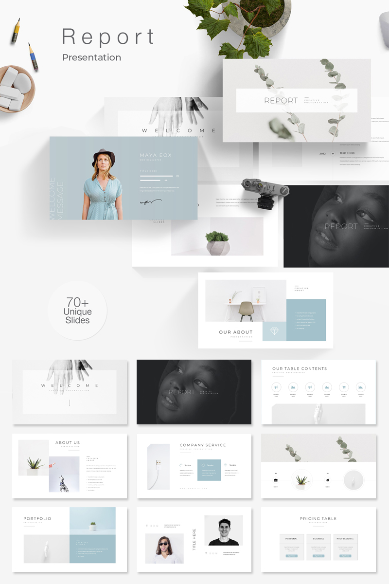 Clean Minimal PowerPoint Template