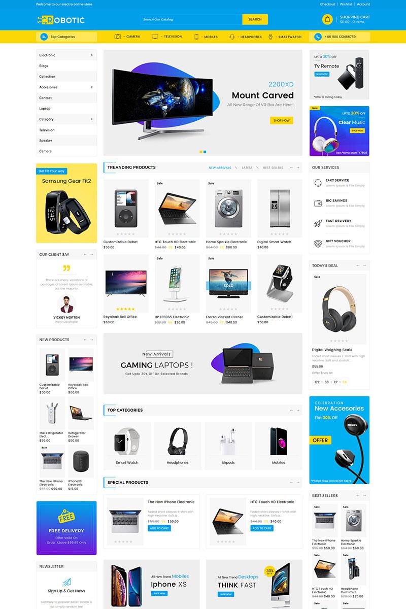 Robotics Electronics Store Shopify Theme