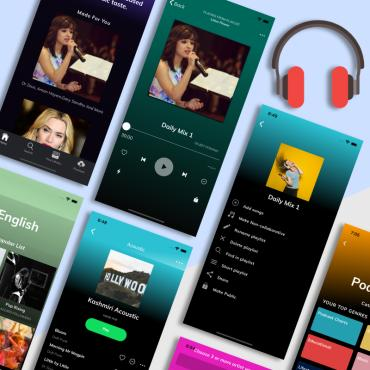 Template 83567 : Ionic 4 Spotify App Template Website