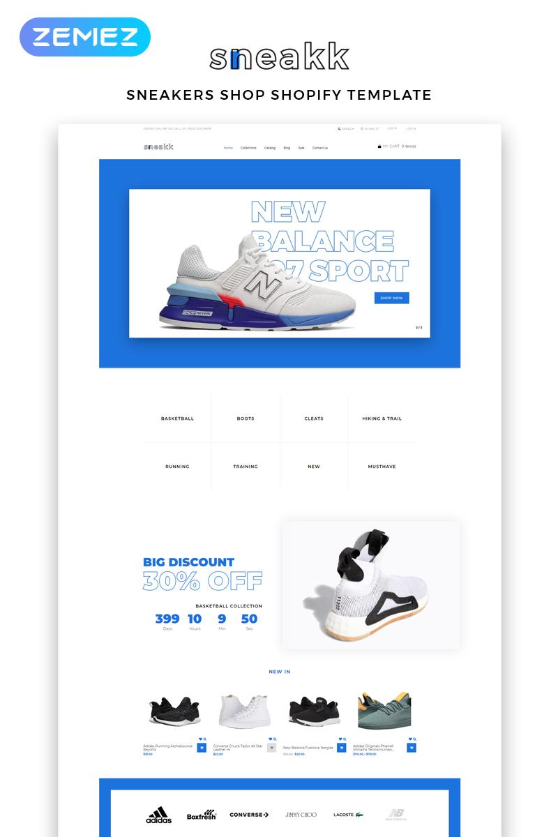 Sneakk - Fashion Store Multipage Clean Shopify Theme