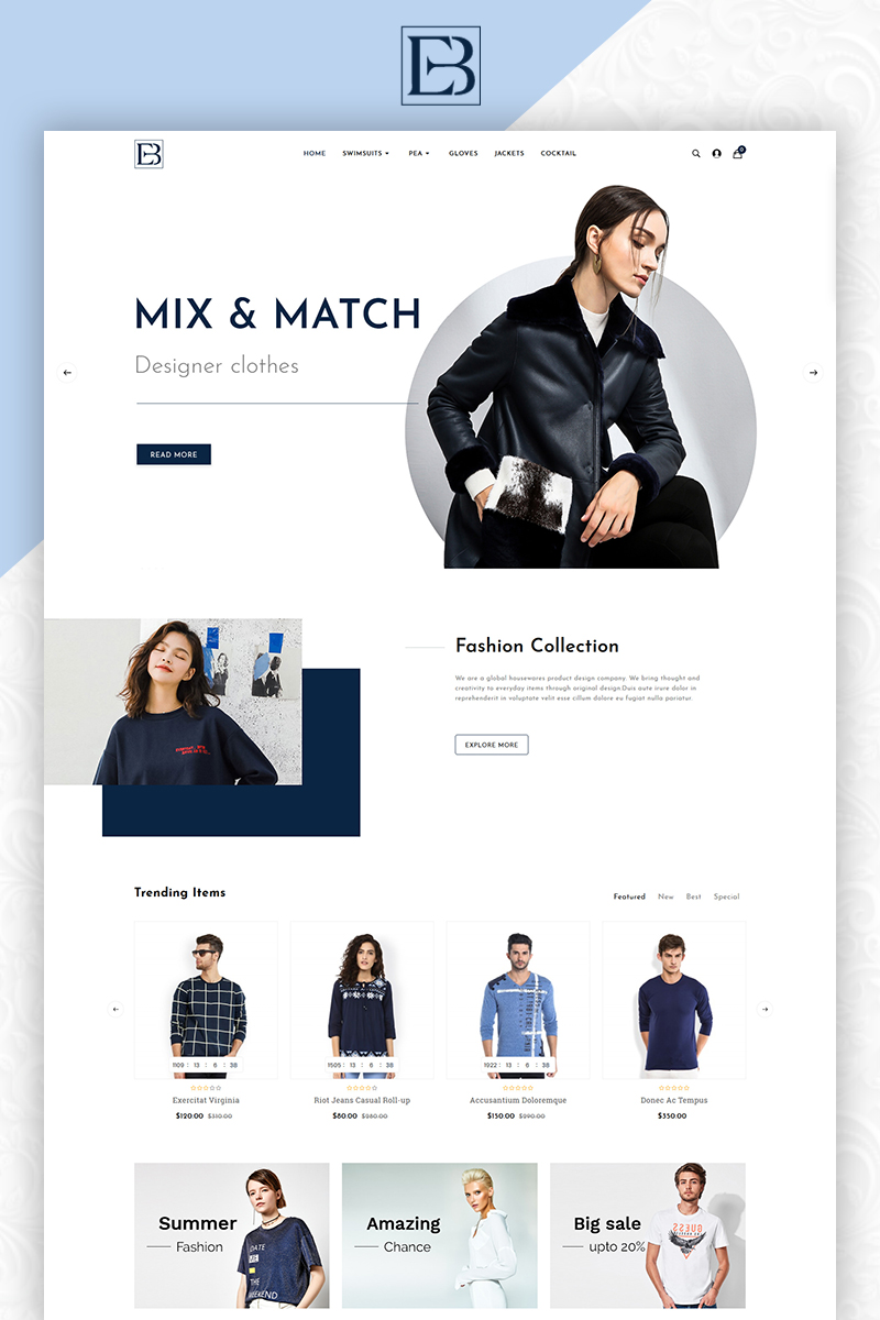 Eb Fashion Multistore OpenCart Template