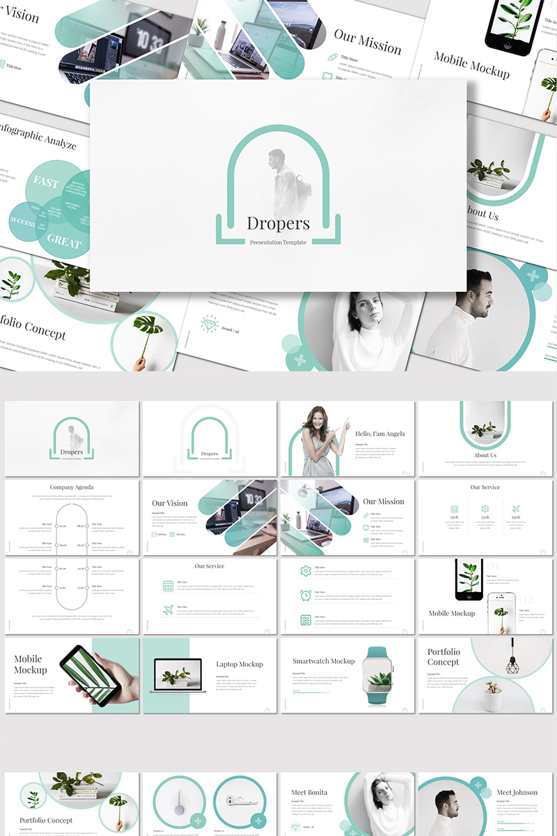 Dropers - PowerPoint Template