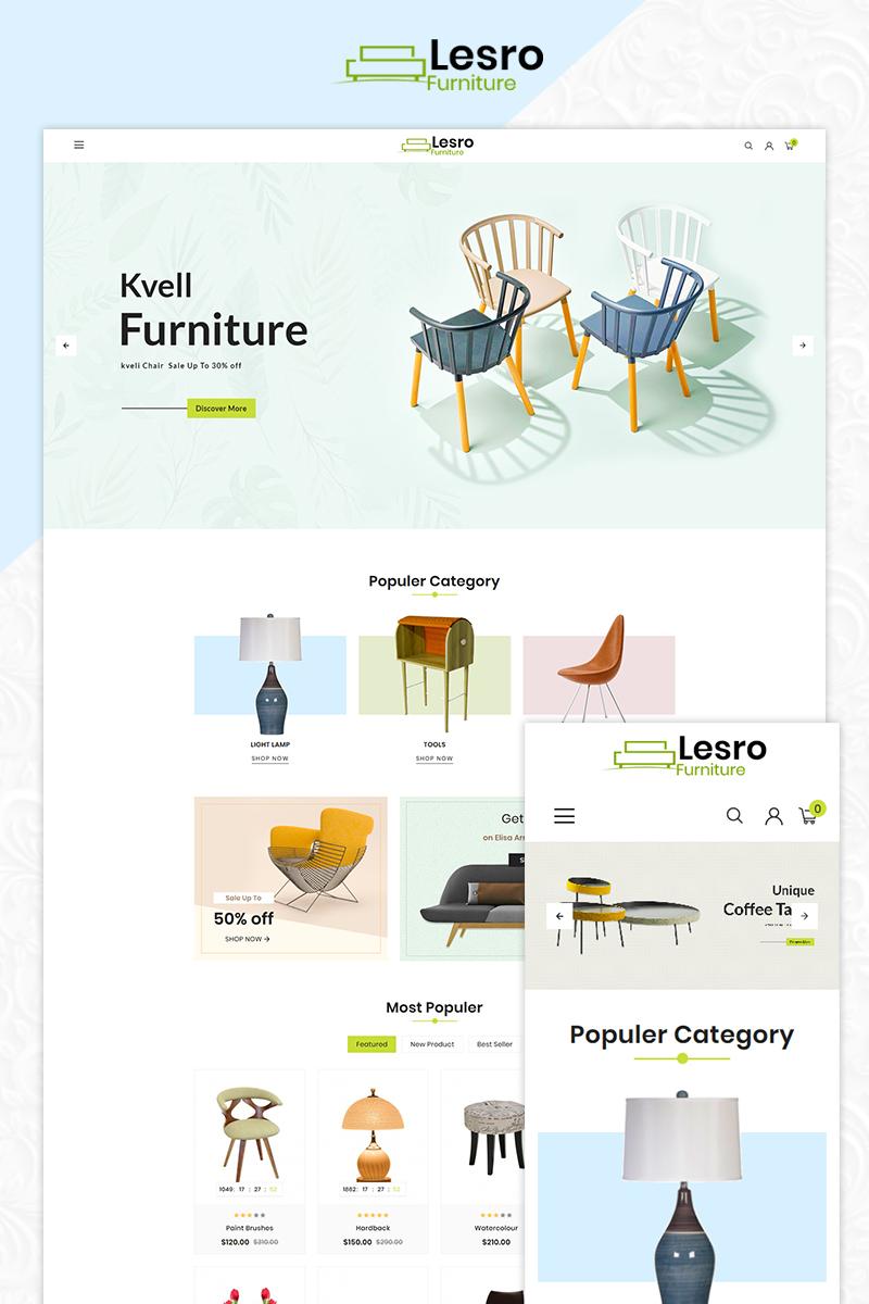 Lesro Furniture Multi Store OpenCart Template