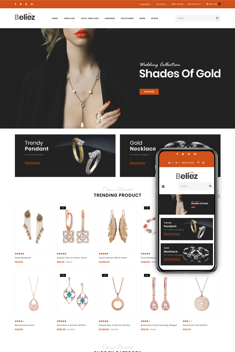 Beliez - Jewelry & Diamond Store OpenCart Template