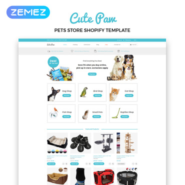 Template Animale de companie Shopify #83881