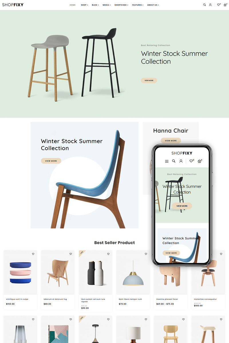 ShopFixy - Furniture WooCommerce Theme