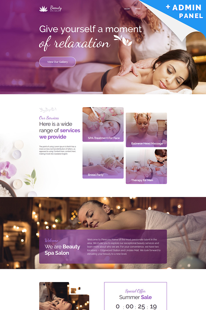 Beauty - Spa Center Landing Page Template