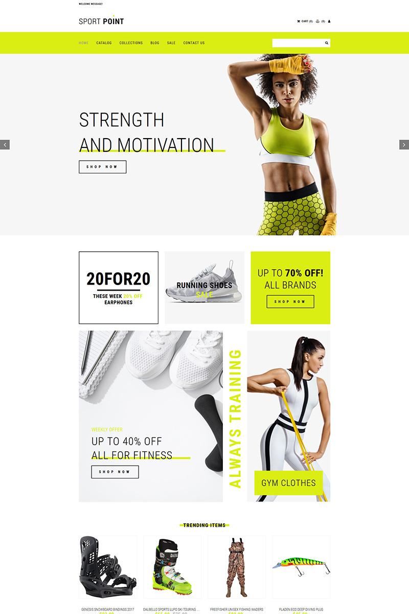 Sports Shop MotoCMS Ecommerce Template
