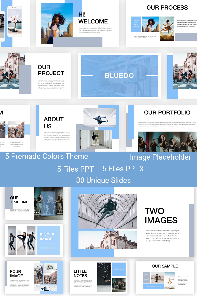 Bluedo - Creative Dance PowerPoint Template