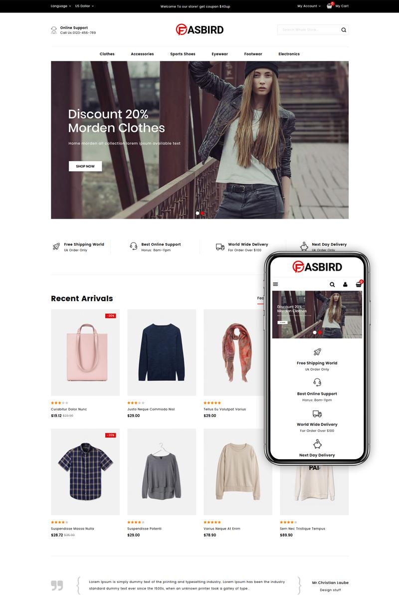Fasbird - Fashion Designer Store PrestaShop Theme