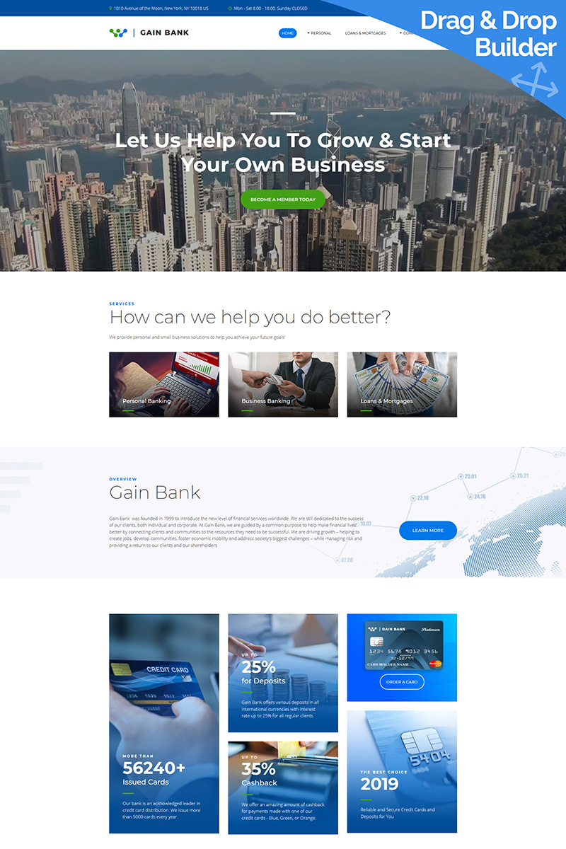 Gain - Best Bank Moto CMS 3 Template