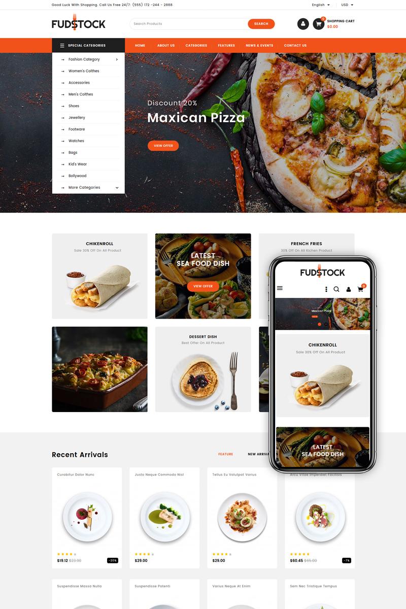 Fudstock - Restaurant Store PrestaShop Theme