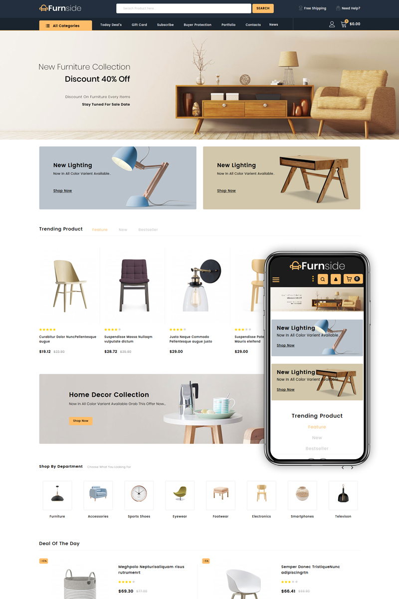 Furnside - Furniture Store PrestaShop Theme